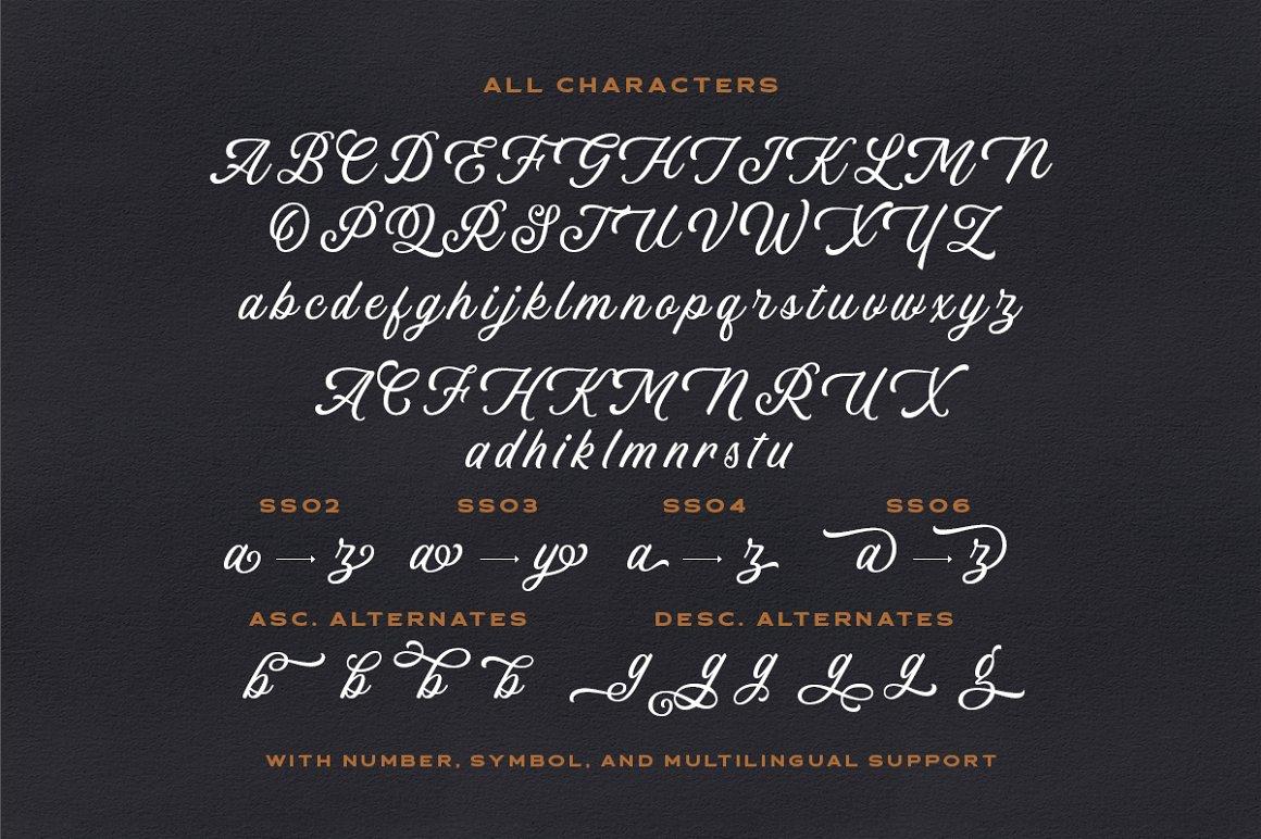 Linkgray Script Typeface -3