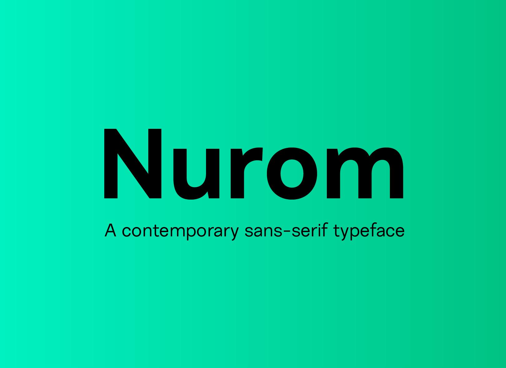 Nurom Sans Serif Typeface -1