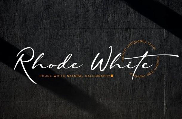 Rhode White Font