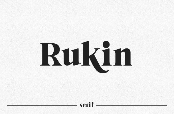 Rukin Font