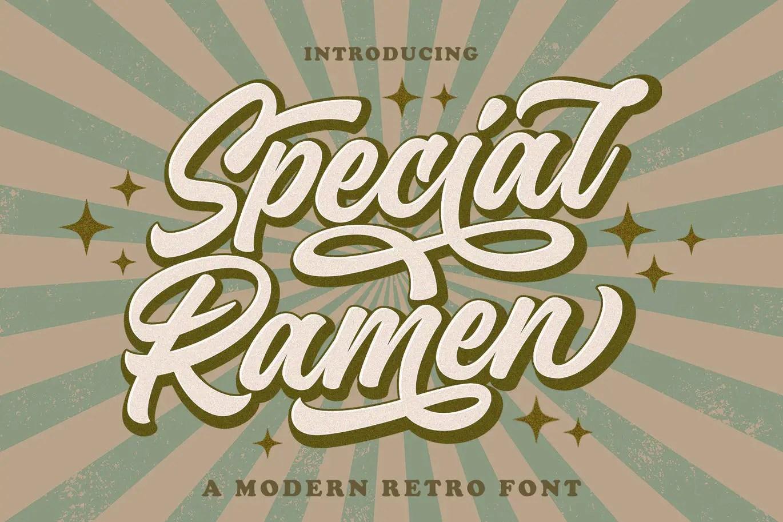 Special Ramen Modern Retro Font -1