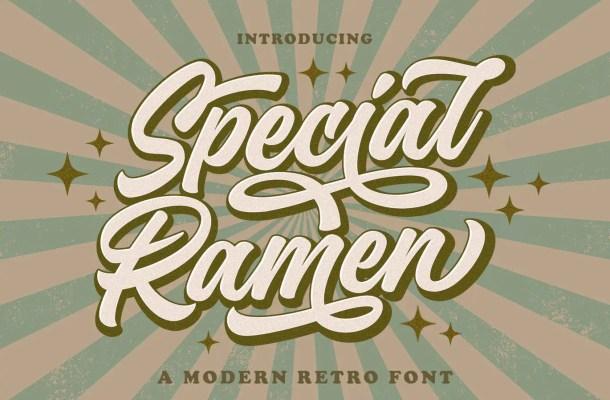 Special Ramen Font