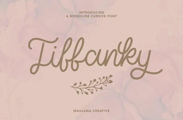Tiffanky Font