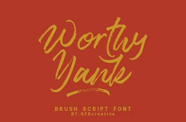 Worthy Yank Font