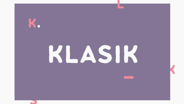 Klasik Sans Font Family