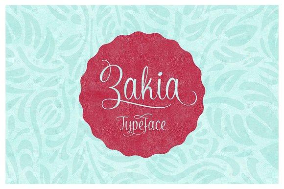 Zakia Script Font