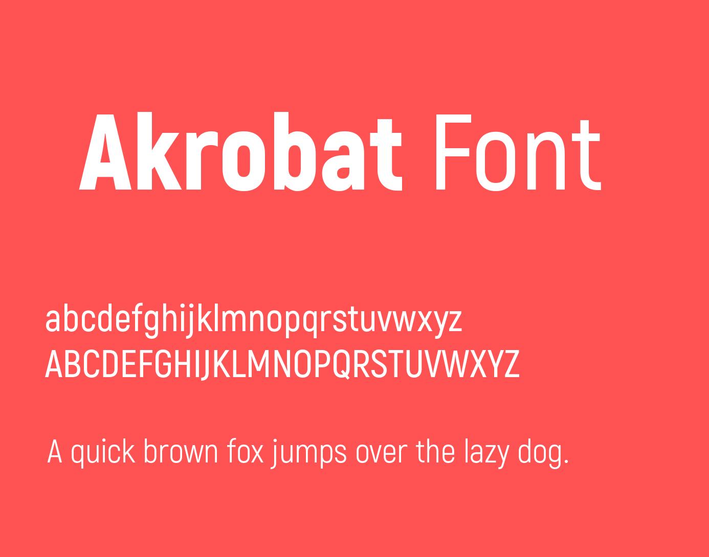 Akrobat-font-1