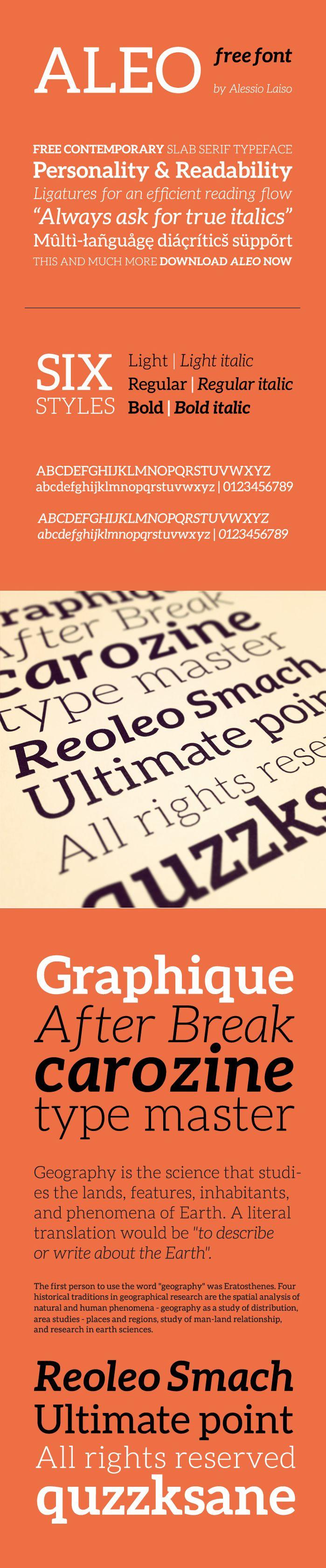 Aleo free font - Fontfabric