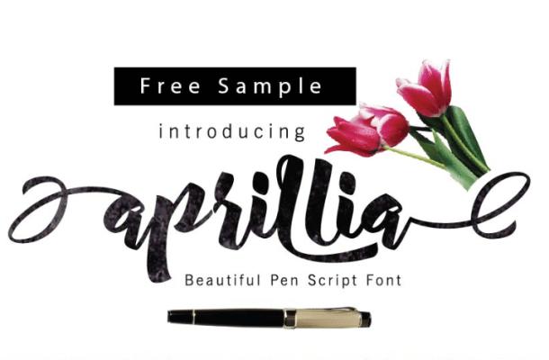 Aprillia Script Font Free