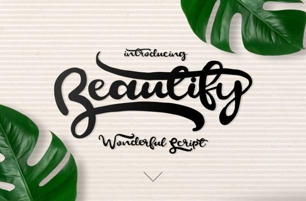 Beautify Script Font Free