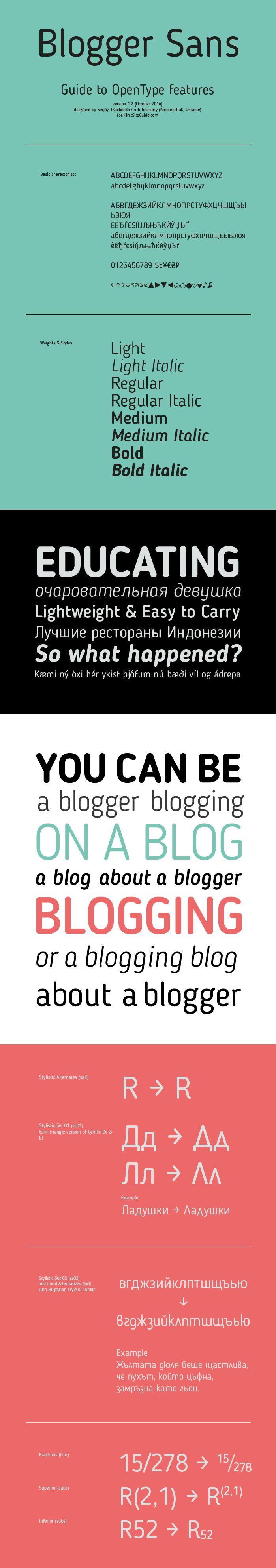 Blogger Sans - Fontfabric