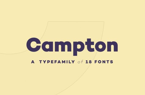 Campton free featured font
