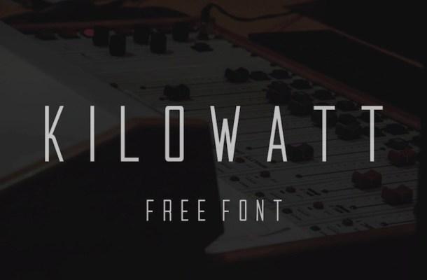 Kilowatt Font Free