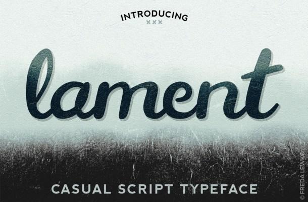 Lament Script Font Free