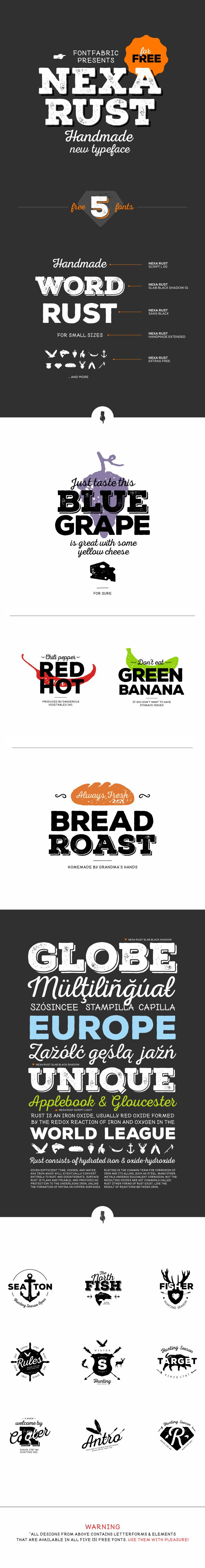 Nexa Rust free font - Fontfabric