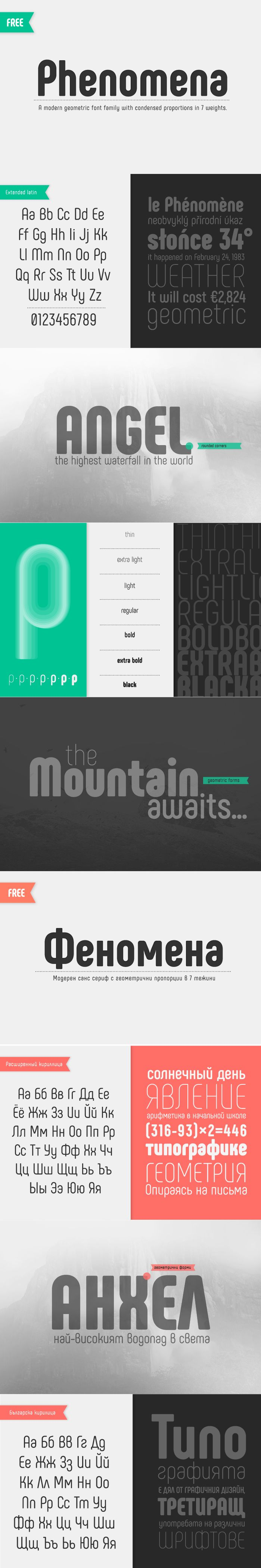 Phenomena font - Fontfabric