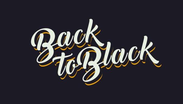 Back to Black Script Font