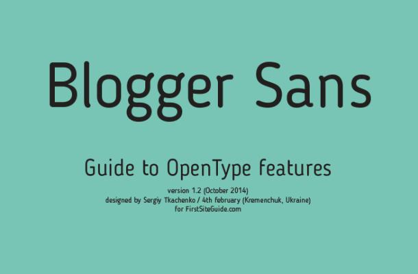 blogger sans ft