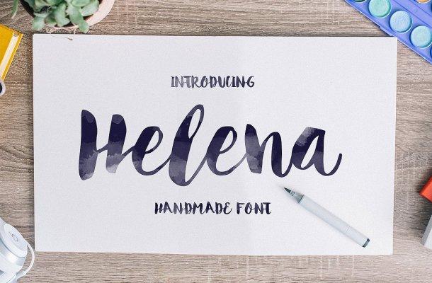 Helena Scrip Font