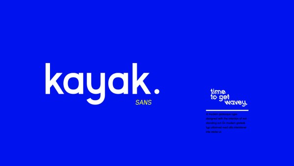 Kayak Sans Font Free