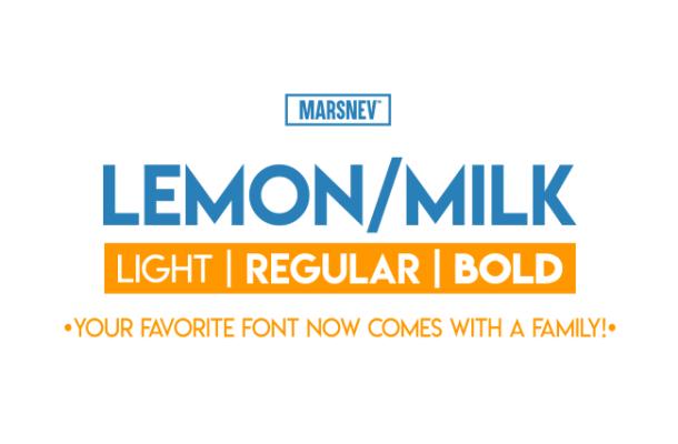Lemon Milk Font Family