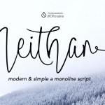 Neithan Monoline Script Font