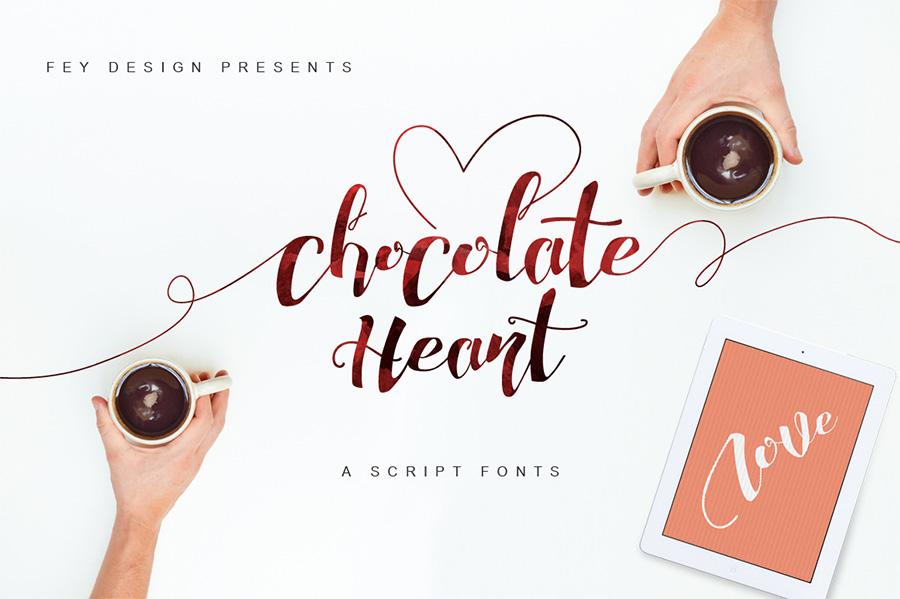 01_chocolate-heart-free-font