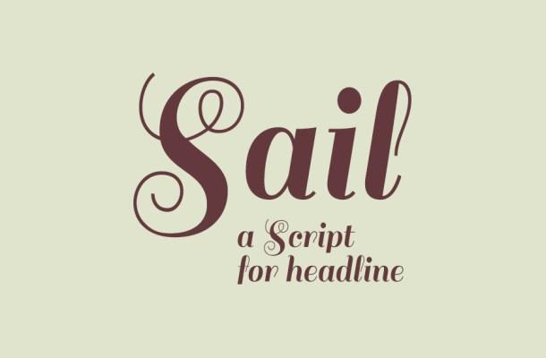 Sail Script Font