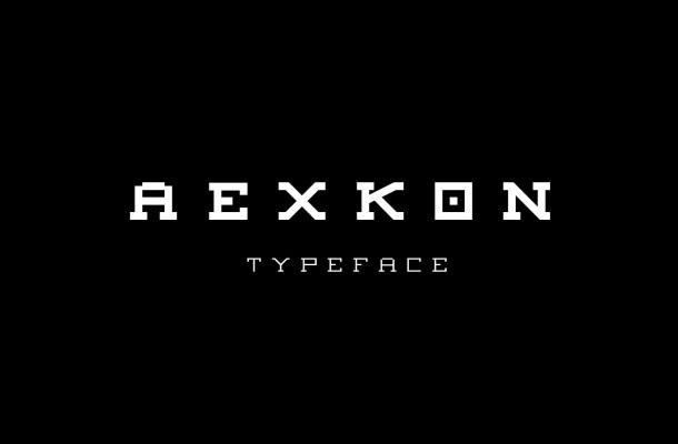 Aexkon Pixel Typeface