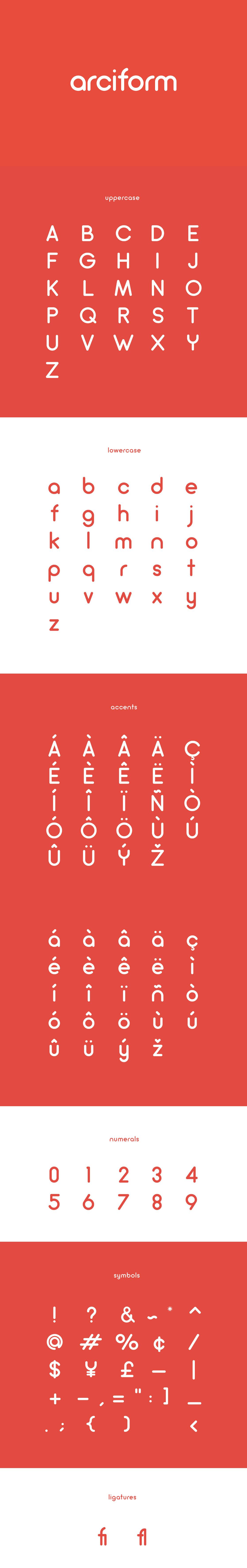 Arciform Free Typeface