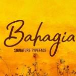 Bahagia Typeface