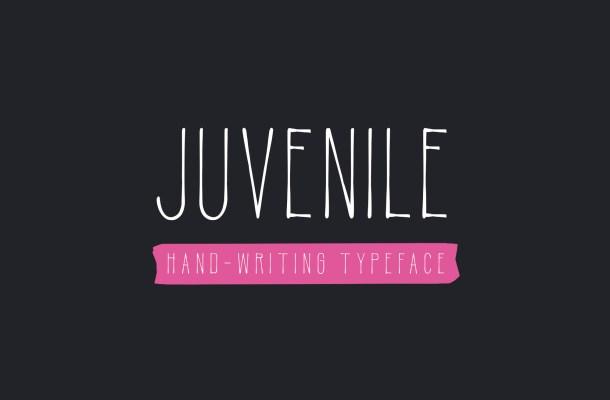 Juvenile Hand Drawn Font