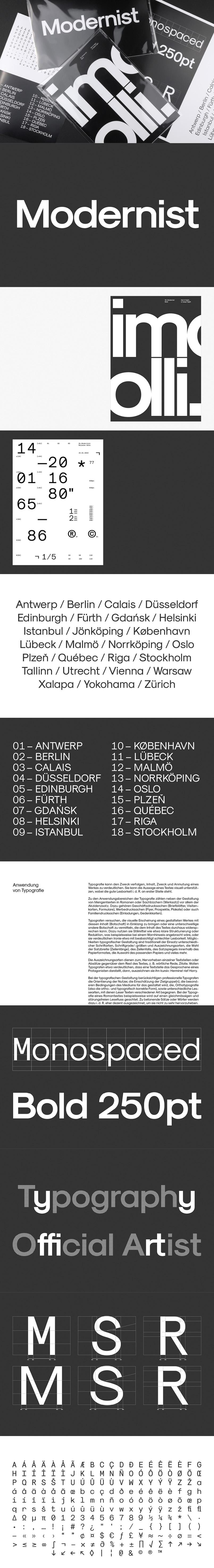 Modernist Free Font