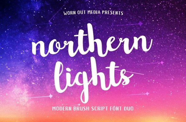 Northern Lights Font Free