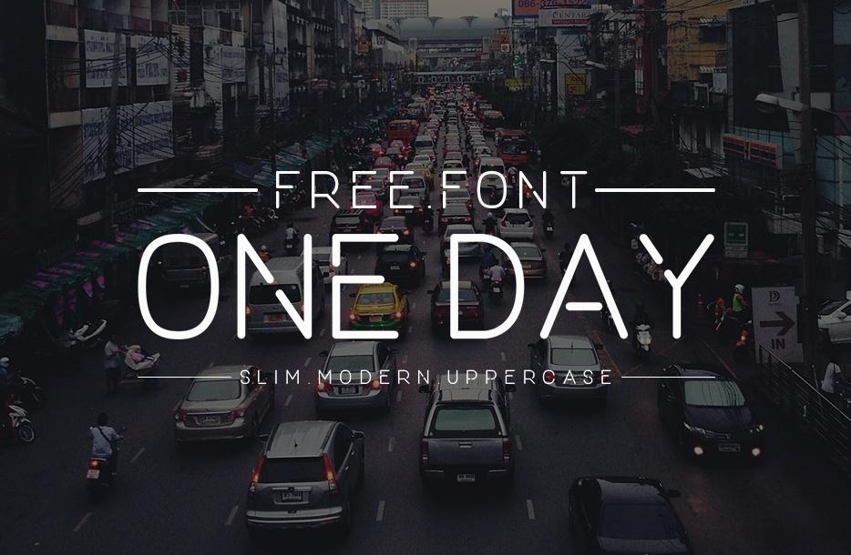 One Day Font Free - Dafont Free