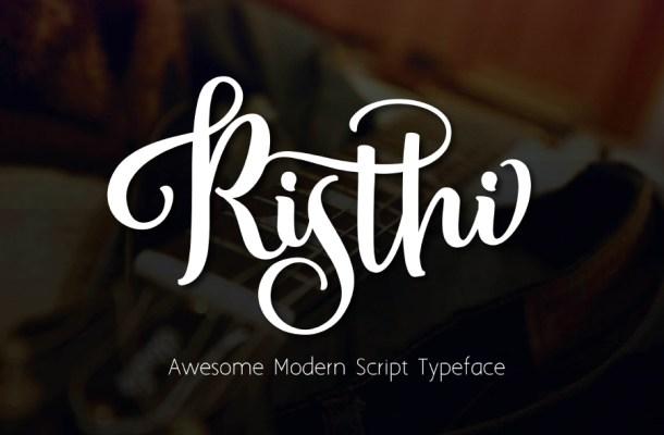 Risthi Script Font