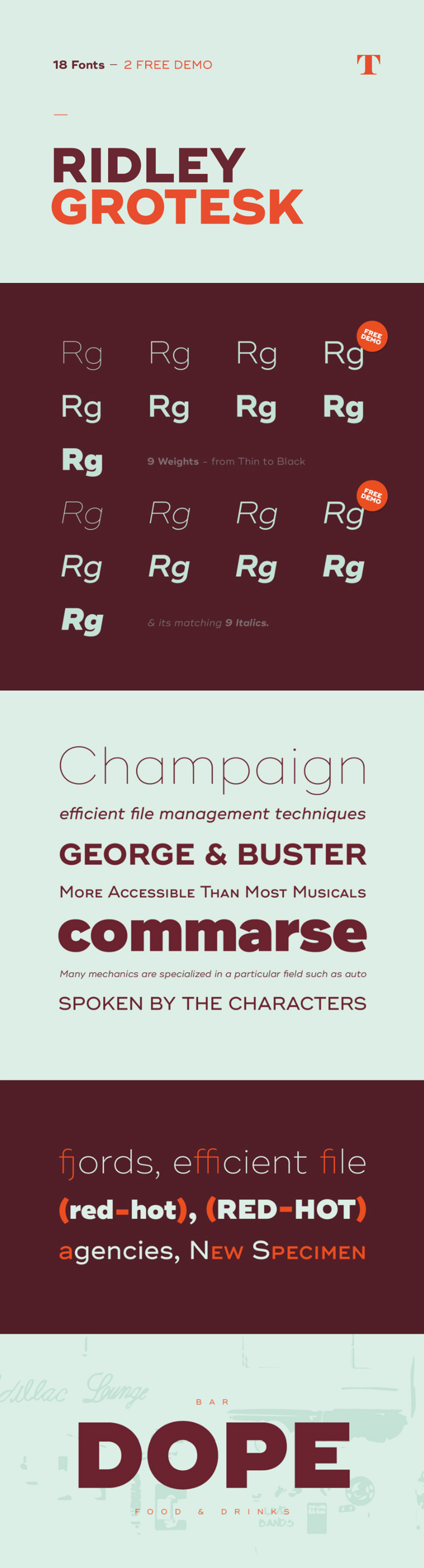 Ridley Grotesk font download Fonts in 2019 Typography fonts