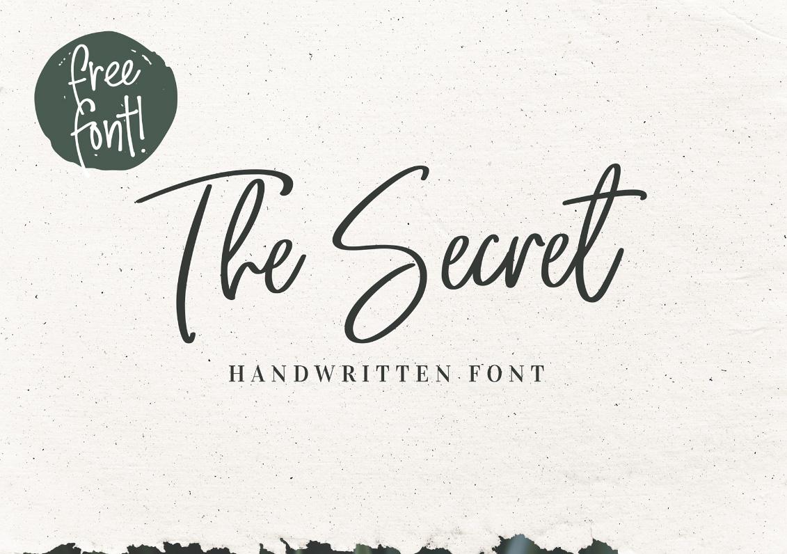 The Secret Font Free - Dafont Free