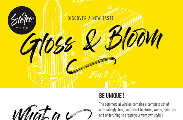 Gloss And Bloom Font