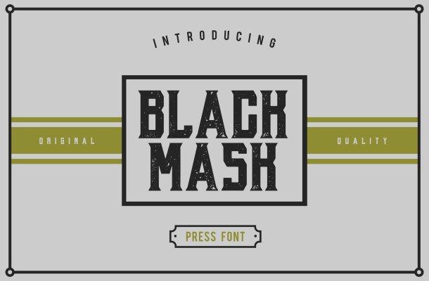 Black Mask Font Free