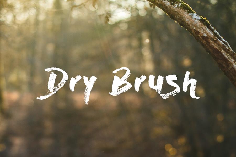 01_dry-brush-free-font