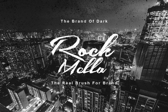 Rock Mella Brush Font Free