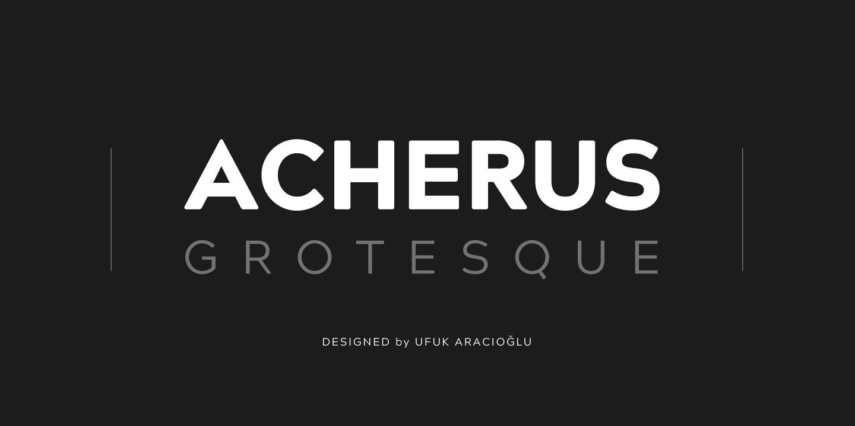 Acherus Grotesque Font Free