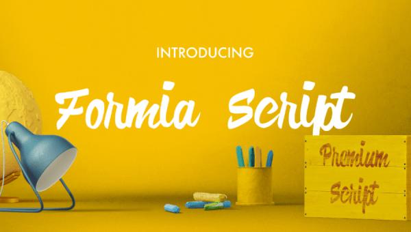 Formia Script Font Free