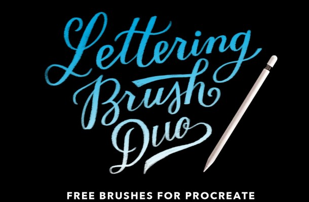 Procreate Lettering Brush Font Free