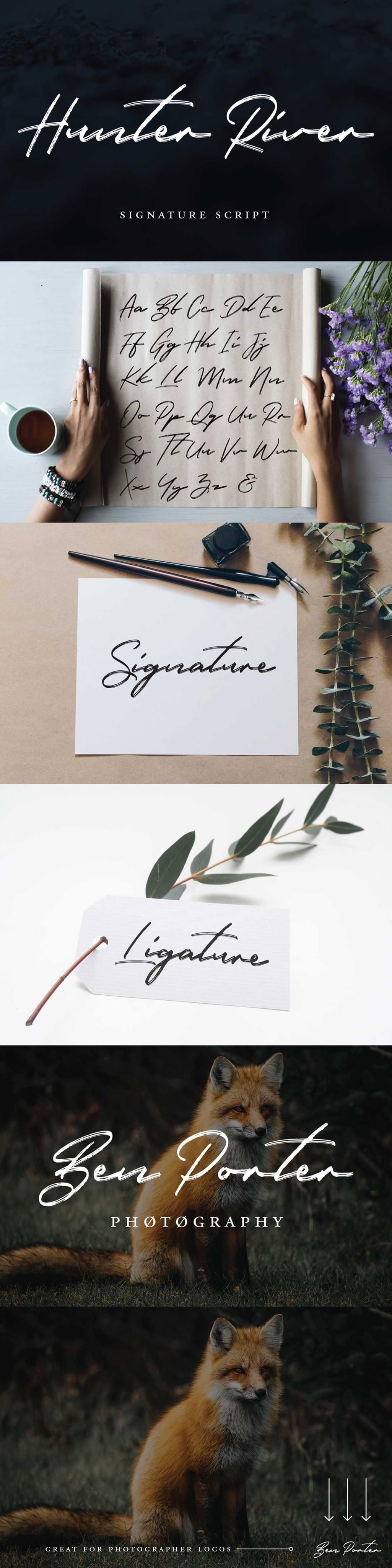 Hunter+River+-+Free+Signature+Font