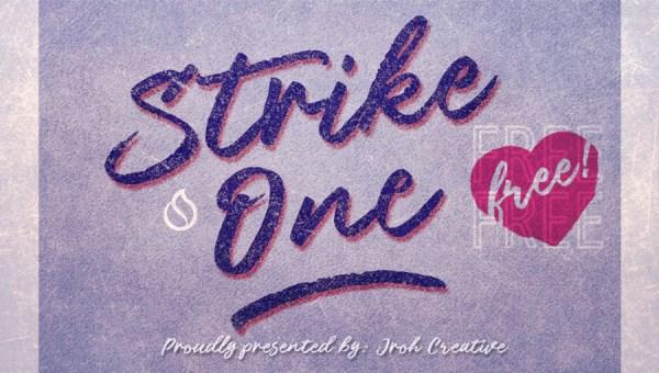 Strike One Script Font Free
