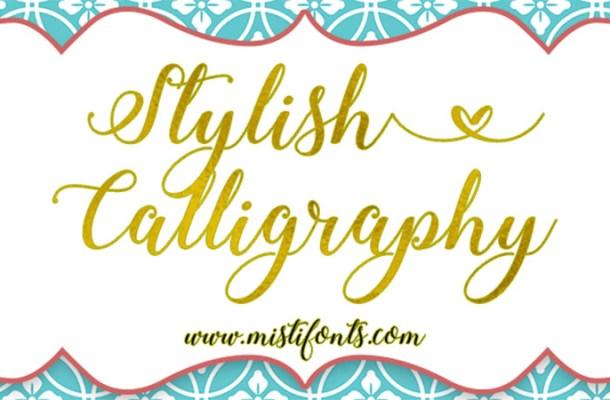 Stylish Calligraphy Font Free