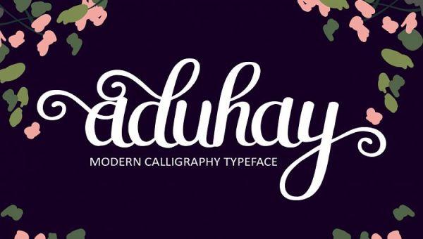 Aduhay Script Font Free