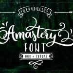 Amastery Script Font Free
